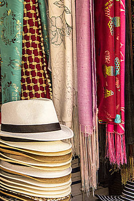Summer Hats And Colorful Scarves Poster by Ben and Raisa Gertsberg