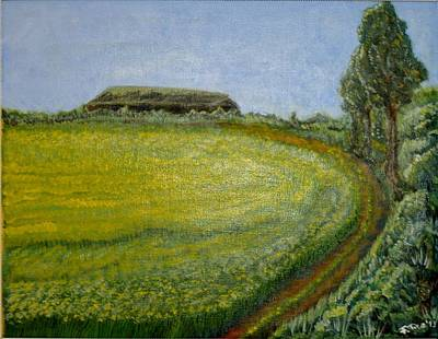Poster featuring the painting Summer In Canola Field by Felicia Tica