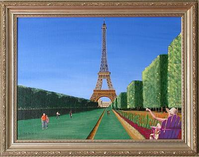 Poster featuring the painting Summer In Paris by Ron Davidson