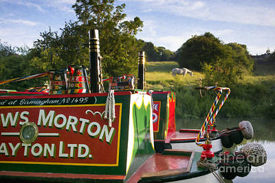 Summer Light On The Grand Union Canal Poster by Tim Gainey