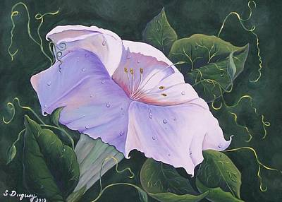 Poster featuring the painting Morning Glory  by Sharon Duguay