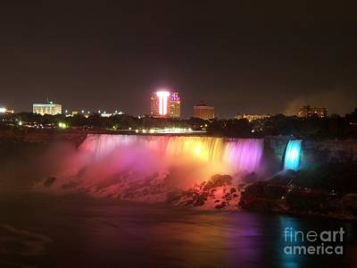 Summer Night In Niagara Falls Poster by Lingfai Leung