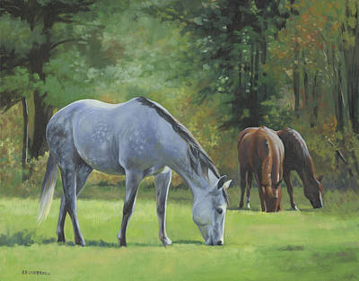 Poster featuring the painting Summer Pasture by Alecia Underhill