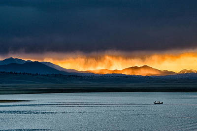 Summer Rainstorm At Crowley Lake Poster by Cat Connor