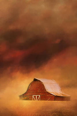 Summer Storm At The Barn Poster