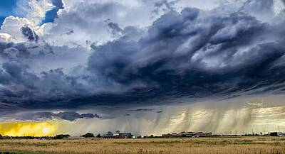 Summer Storm Twin Falls Idaho Poster by Michael Rogers