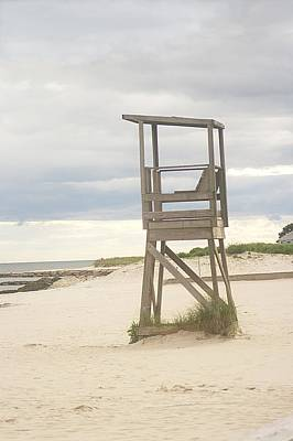 Poster featuring the photograph Summer Throne Lifeguard Chair by Suzanne Powers