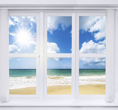 Summer Window Poster by Amanda Elwell