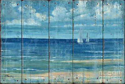 Summerset Sailboats - Distressed Poster by Paul Brent