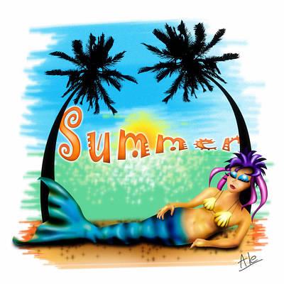Summertime Poster by Alessandro Della Pietra