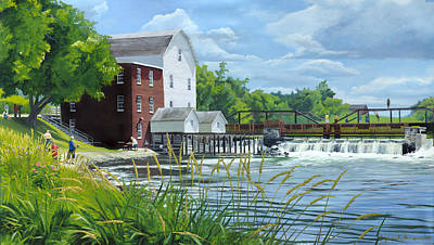 Summertime At The Old Mill Poster