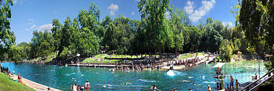 Summertime Barton Springs Panoramic Poster