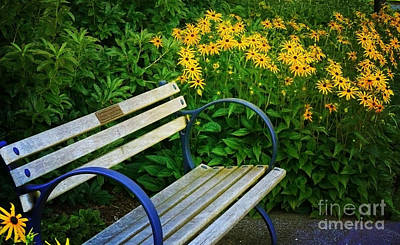 Poster featuring the photograph Summertime Bench by Maria Janicki