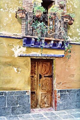 Sun And Moon Door Coyocan Poster by David Lloyd Glover