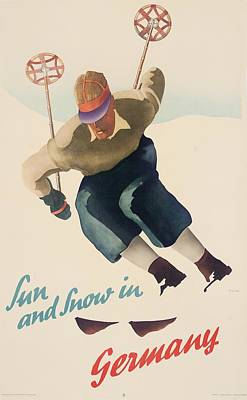 Sun And Snow In Germany Poster by Nix