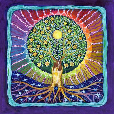Sun Bear Star Tree Poster by Faith Nolton
