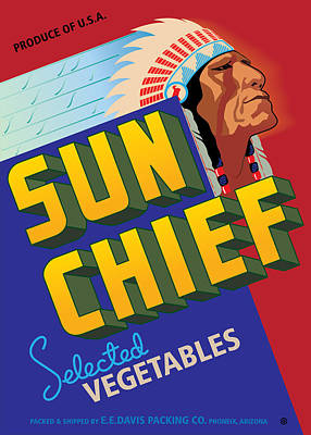 Sun Chief Poster by Gary Grayson
