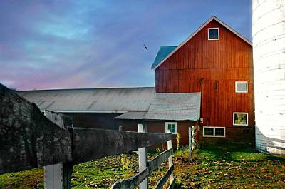 Sun Down Farm Poster by Diana Angstadt