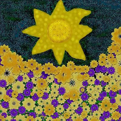 Sun Flower Field Poster by Pepita Selles