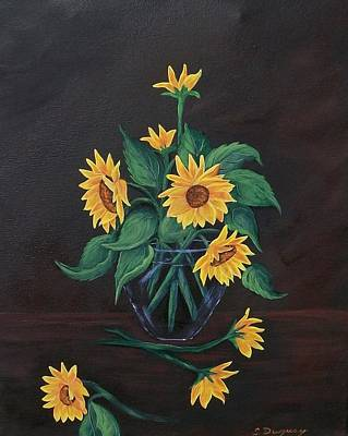 Poster featuring the painting Sun Flowers  by Sharon Duguay