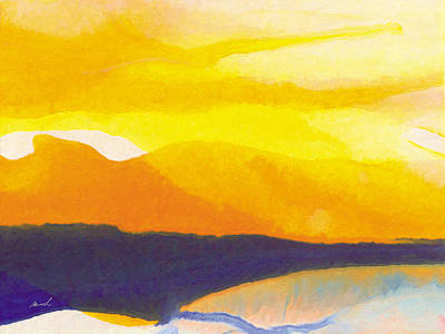 Poster featuring the painting Sun Glazed by The Art of Marsha Charlebois