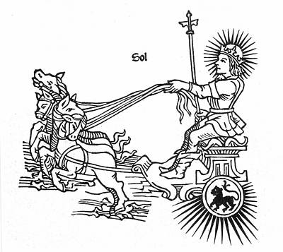 Sun God Helios, Or Sol Poster by Granger