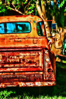 Sun Kissed Truck Poster by Toni Hopper