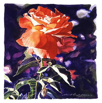 Sun Rose Poster by David Lloyd Glover