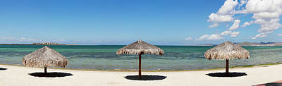 Sun Shade On The Beach Of La Paz, Baja Poster by Panoramic Images