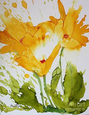 Sun Splashed Poppies Poster