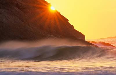 Sun Star Singing Beach Poster by Michael Hubley