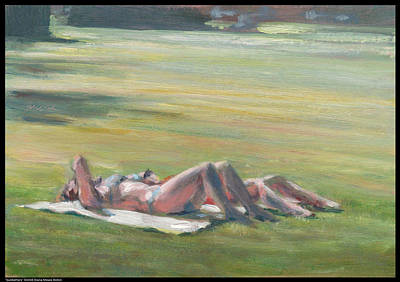 Sunbathers Poster by Diana Moses Botkin