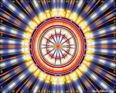 Poster featuring the digital art Sunburst by Brian Johnson
