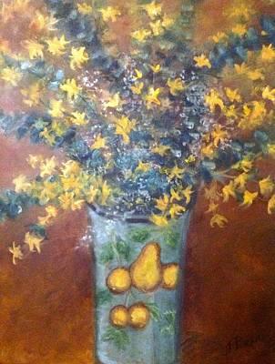 Sunburst Floral Poster