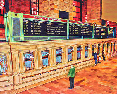 Poster featuring the painting Sunday Am At Grand Central by Deborah Boyd