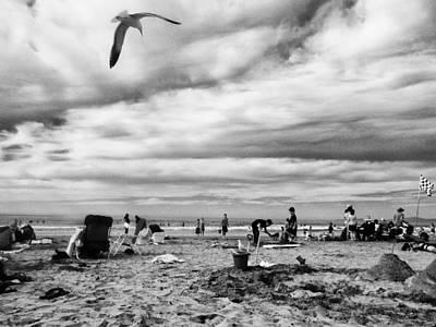 Sunday At The Beach Poster by Juan Torrero