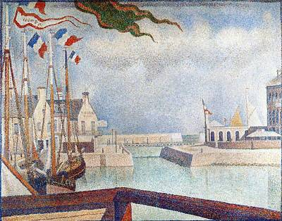 Sunday In Port-en-bessin Poster by Georges Seurat