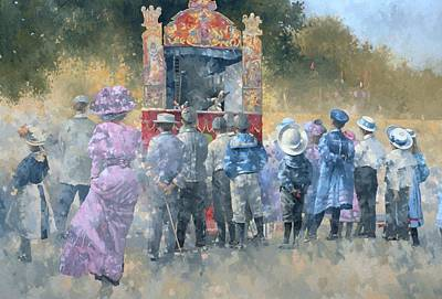 Sunday In The Park Oil On Canvas Poster by Peter Miller