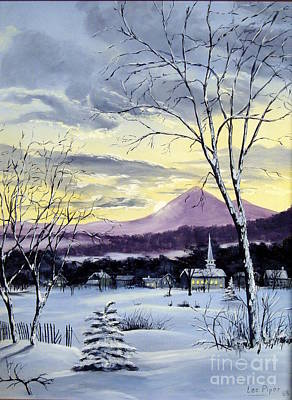 Poster featuring the painting Sunday In Winter by Lee Piper