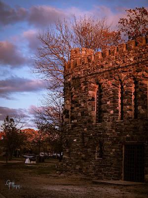 Sundown At Rhineland Castle Poster