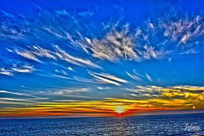 Sundown Over Pacific Poster