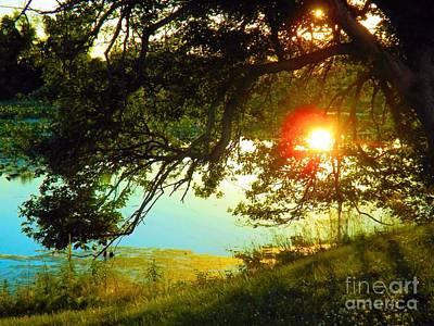 Sundown Penn Warner Lake Poster