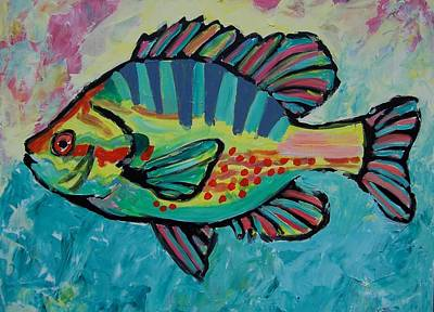 Poster featuring the painting Sunfish by Krista Ouellette