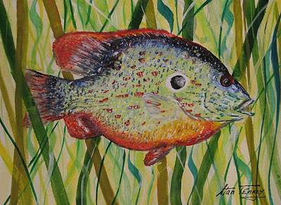 Poster featuring the painting Sunfish by Stan Tenney