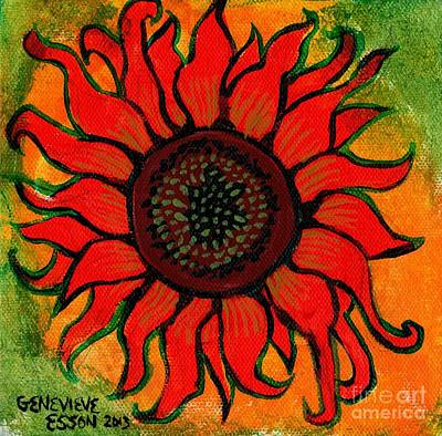 Sunflower 2 Poster by Genevieve Esson