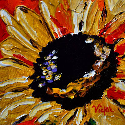 Sunflower 2 Poster by Vickie Warner