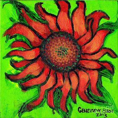 Sunflower 3 Poster by Genevieve Esson