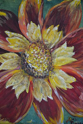 Poster featuring the painting Sunflower by Debbie Baker