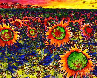 Sunflower Field 20130730 Horizontal Poster