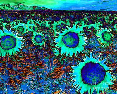 Sunflower Field 20130730p150 Horizontal Poster